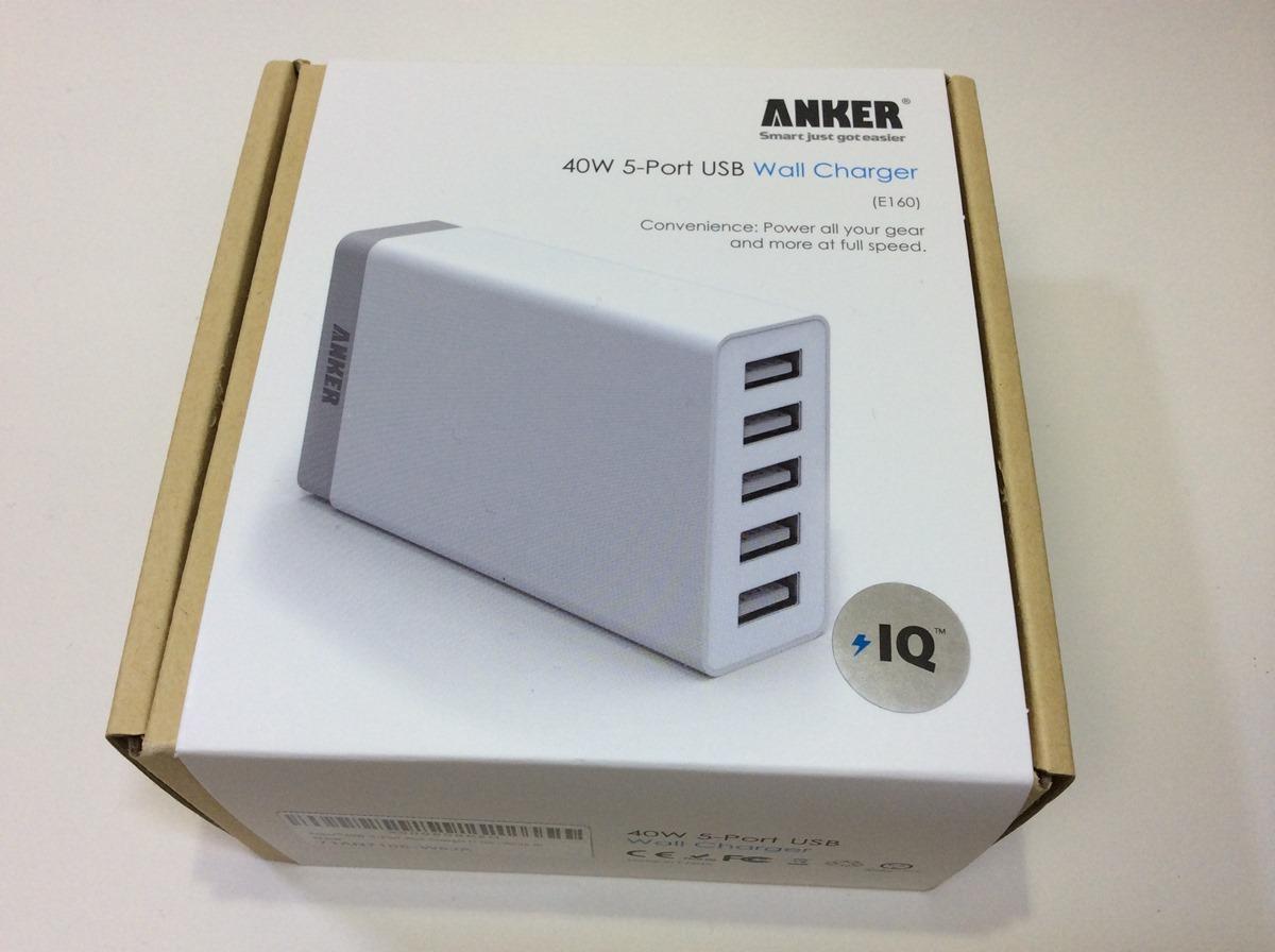 Anker 40W 5ポート USB急速充電器 前バージョン比較 パッケージ