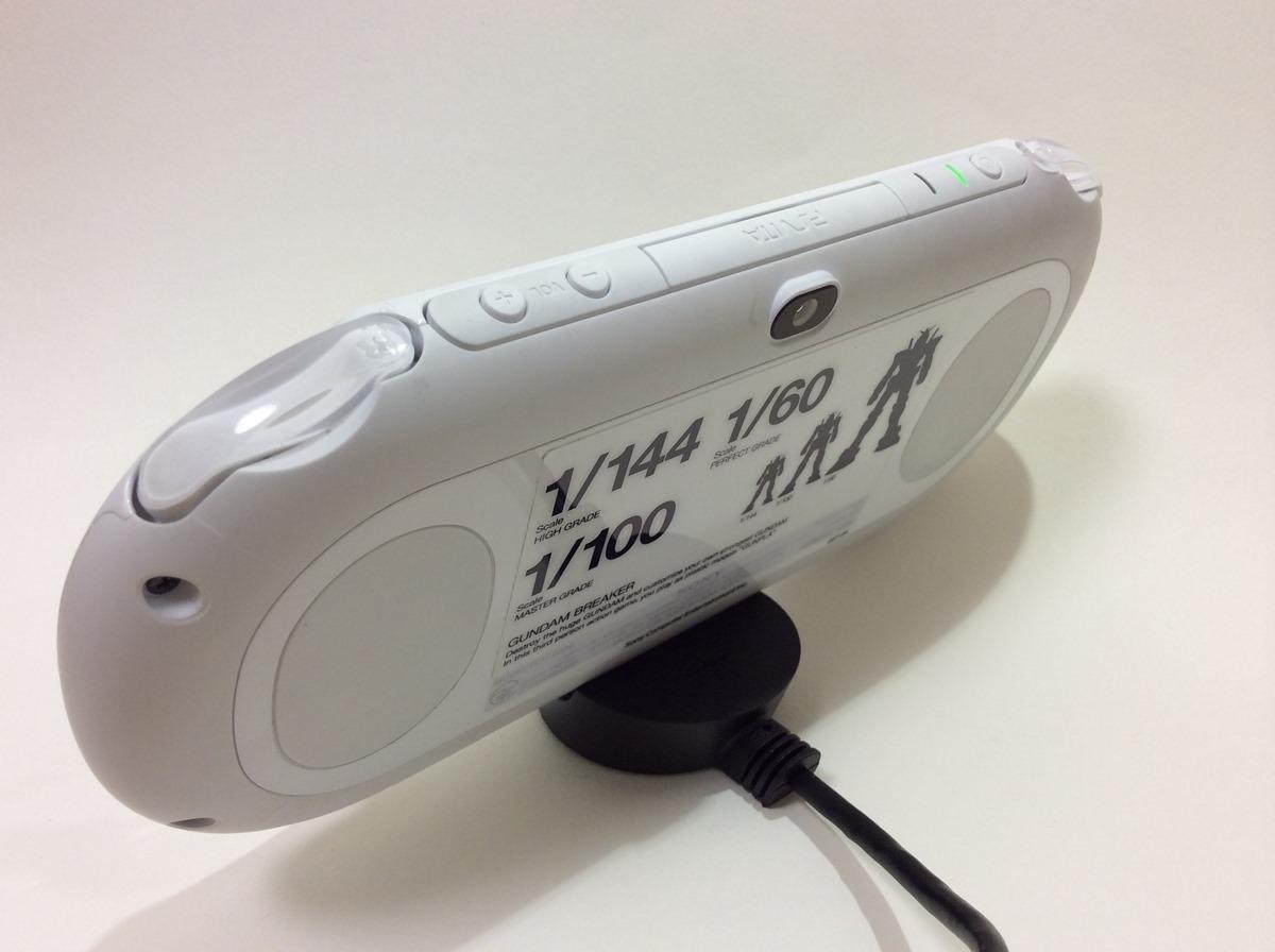 PlayStation Vita スタンド付ケーブル Vita乗せ背面